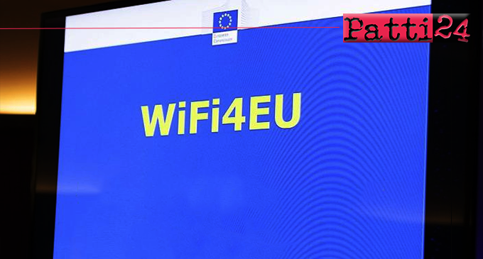 PATTI – Hotspot Wi-Fi negli spazi pubblici. Patti è tra i 3.400 europei vincitori del voucher da 15.000 euro.