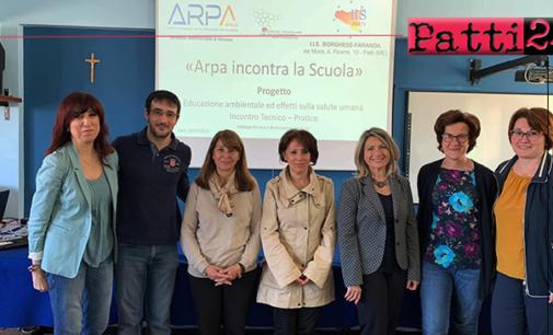 """PATTI – Nuova esperienza formativa dei ragazzi dell'indirizzo bio dell' I.I.S. """"Borghese Faranda"""" con  ARPA Sicilia."""