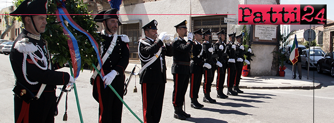 MILAZZO – Commemorazione del 47° anniversario della morte dell'Appuntato M.A.V.M. PIRRONE Antonino e del Carabiniere M.A.V.M. ARNOLDI Antonio.