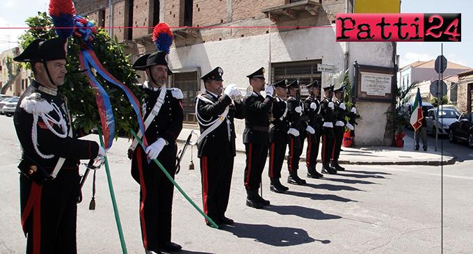 MILAZZO – 49° anniversario morte dei Carabinieri M.A.V.M. Pirrone Antonino e Arnoldi Antonio.