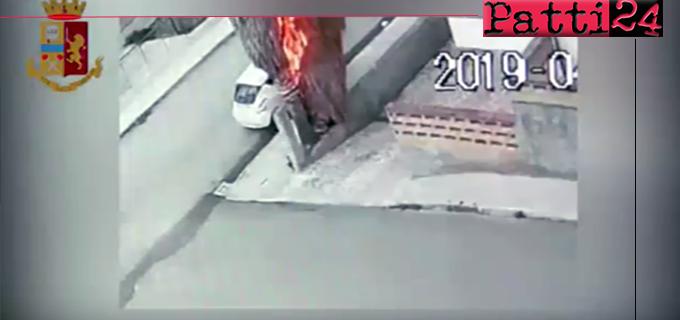 PATTI – Appicca fuoco ad una palma e danneggia una autovettura e il muro di un'abitazione