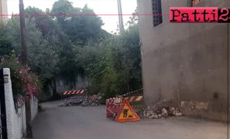 PATTI – Perdita d'acqua in via Ferriato. Intervento si … ma con calma.