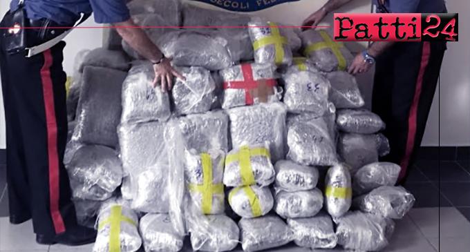 TERME VIGLIATORE – 110 kg di marijuana in casa. Arrestato 47enne albanese.