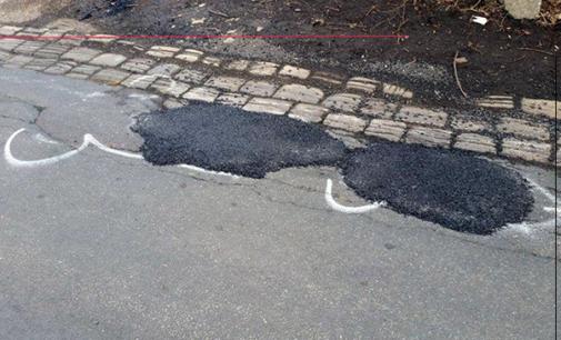 """PATTI – Il metodo """"Wanksy"""" per risolvere il problema delle buche sul manto stradale."""