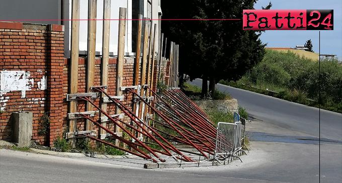 PATTI – Il muro perimetrale del cimitero da oltre 2 anni in attesa di intervento.
