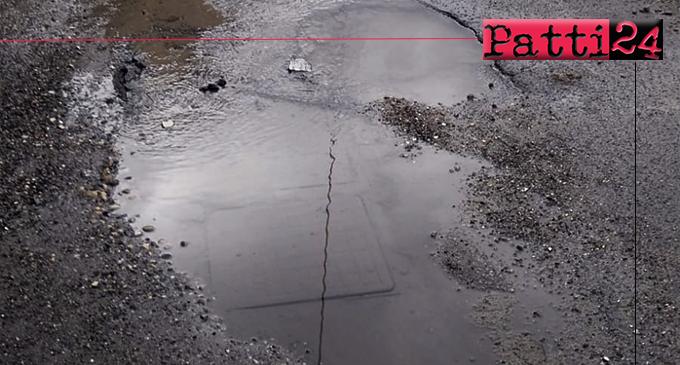 PATTI – Copiosa perdita d'acqua in via Ferriato. Un ruscello che attraversa la via Kennedy ed arriva a Catapanello.