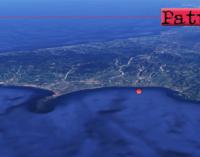FALCONE – Lieve sisma di ML 2.8, epicentro in mare a 4 km da Falcone e Furnari con ipocentro a 9 Km di profondità.