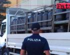 FALCONE – Deposito abusivo di materiale esplodente. Una denuncia e sequestro di 800 kg. di  bombole di GPL.