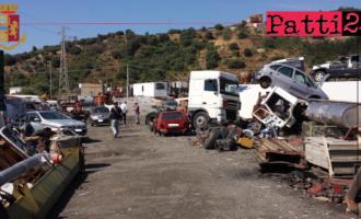 PAGLIARA – Sequestrata area abusivamente utilizzata per recupero rifiuti pericolosi e veicoli dismessi