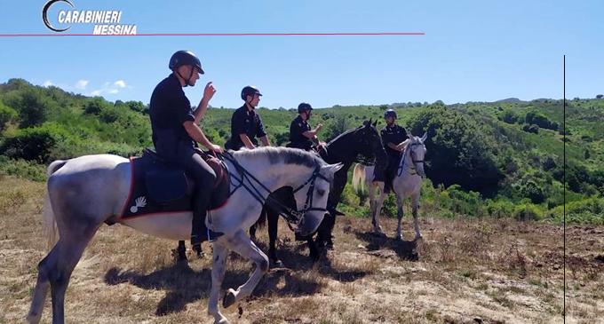 PARCO DEI NEBRODI – Intensificati i servizi di prevenzione dei Carabinieri con l'ausilio del 4° Reggimento Carabinieri a Cavallo.