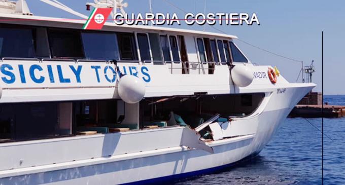 EOLIE – Scontro tra un traghetto con 350 turisti e uno yacht, 5 feriti.
