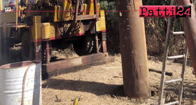 BROLO – Iniziati i lavori per la realizzazione di un nuovo pozzo in contrada Scinà