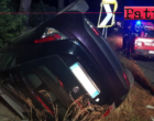A20 – Auto si ribalta al km 17.50 direzione Palermo. Conducente fortunatamente rimasto illeso.