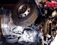 A20 – Incidente stradale. Si ribalta furgone nella galleria Calavà, 2 feriti
