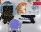 MESSINA – Rinvenuti più di 300 gr. di marijuana e una pistola a salve. Arrestato 50enne