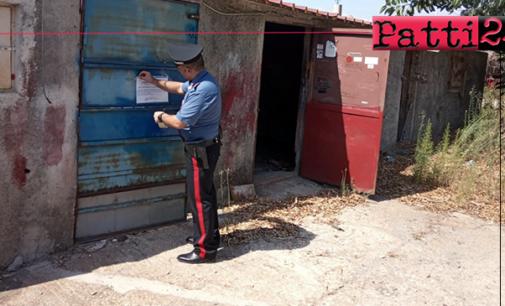 TERME VIGLIATORE – Sequestrata area demaniale occupata abusivamente con fabbricati realizzati in laterizi. 2 indagati.