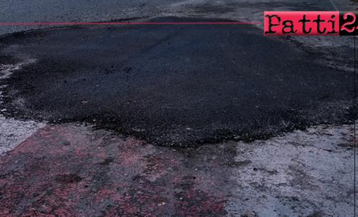 PATTI – Manutenzione straordinaria buche in strade centro abitato.