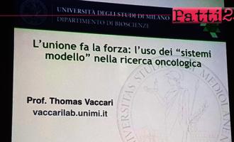 PATTI – Il Prof. Vaccari ha spiegato agli studenti pattesi che i progressi dell'oncologia si fondano su anni di studi di ricerca di base.