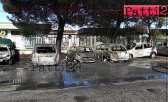 MILAZZO – Auto si incendia e  il fuoco ne coinvolge altre sei nel piazzale della stazione ferroviaria.