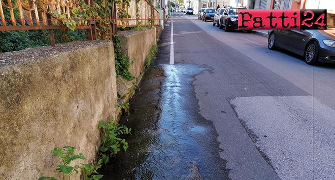 PATTI – Perdita di tanta acqua da circa un mese lungo il Corso Matteotti …