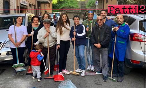 MESSINA – Via Pippo Romeo. Residenti ed esercenti commerciali  hanno ridato nuovo decoro alla strada nella quale vivono e lavorano.