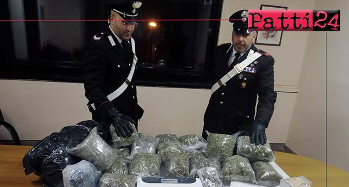 MESSINA – Nasconde in casa ed in cantina oltre 16 Kg di marijuana. Arrestato 24enne
