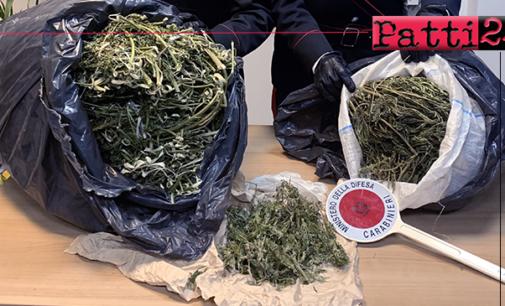 SAN FRATELLO – 2 sacchi di circa 7,2 kg. di marijuana, ben occultati. Arrestato allevatore 54enne
