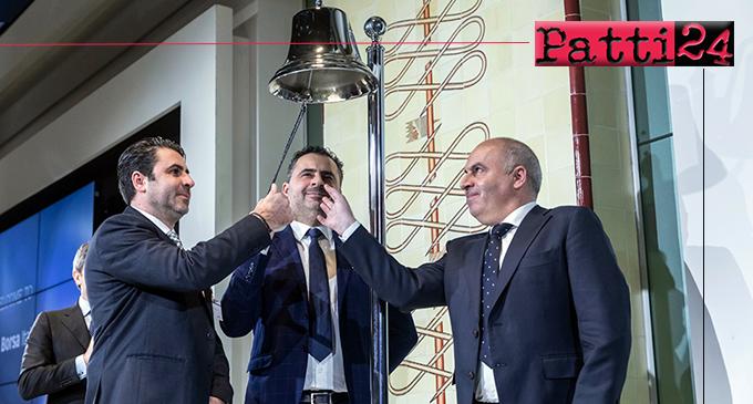 SAN PIERO PATTI – Suona la campanella a Piazza Affari per l'entrata della NVP S.p.a. dei fratelli Pintabona