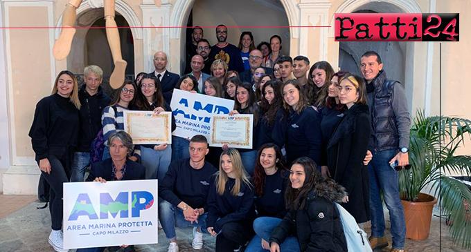 """MILAZZO – Presentato il logo dell'Area marina protetta. Vince studentessa del tecnico """"Da Vinci""""."""
