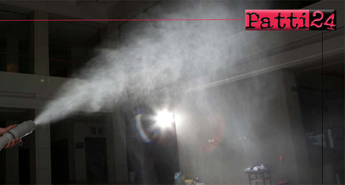 PATTI – Disinfezione locali. Dal 24 al 26, sospese attività scuole e dalle 14:00 del 25 al 26 uffici comunali.
