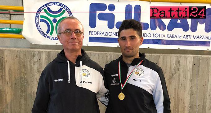 PATTI – Campionati regionali di karate FIJLKAM specialita' kumite. Mattia Campochiaro vince l'oro