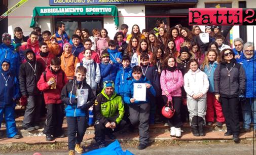 """PATTI – Studenti della """"Pirandello"""", alla Scuola Italiana Sci di Camigliatello Silano"""