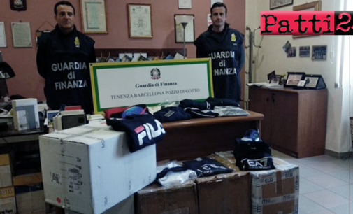 """BARCELLONA P.G. – Abbigliamento contraffatto e commesso """"in nero"""" in Outlet del centro. Denuncia e sanzioni"""