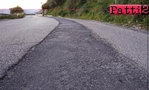 PATTI – Ripristino manto stradale nel tratto della SP122 interessato da lavori di metanizzazione.