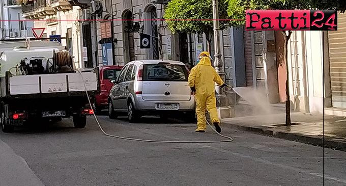 MILAZZO – Prosegue la sanificazione quotidiana del territorio comunale