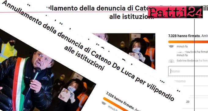 MESSINA – De Luca denunciato per vilipendio alle istituzioni. Cittadini  firmano petizione on line per annullamento.