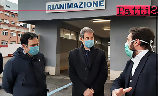 MESSINA – Covid-19. Vertice in prefettura e sopralluogo strutture ospedaliere di Musumeci e Razza.