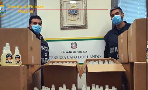 """MESSINA – Sequestrati nel capoluogo e in provincia 800 litri di gel igienizzante, già confezionati in 6.356 flaconi , falsamente pubblicizzati come """"sanitizzanti"""""""