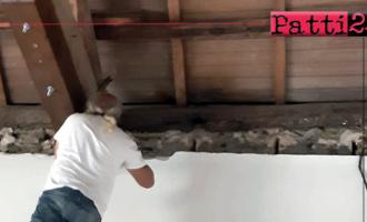 PATTI – Iniziati i lavori di sistemazione nella chiesetta della Provvidenza