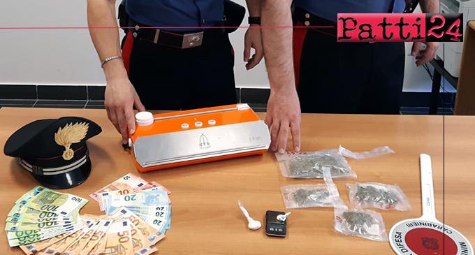 TERME VIGLIATORE – Detenzione ai fini di spaccio di sostanze stupefacenti. 29enne agli arresti domiciliari.
