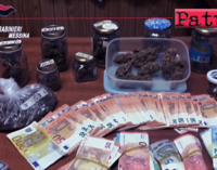 TAORMINA – Sequestrati marijuana e 16.000 euro custoditi in casa. Arrestato 35enne.