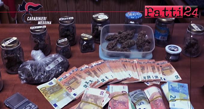 TAORMINA – Sequestrati marijuana e 16.000 euro custoditi in casa. Arrestato 35enne.