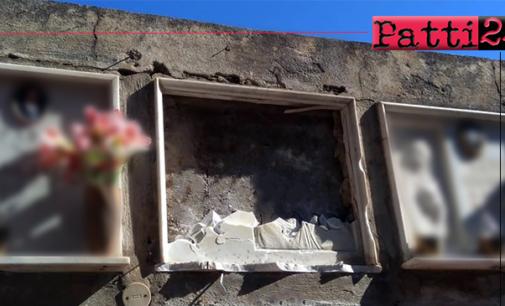 SAN PIERO PATTI – Tombe divelte nel Cimitero. Sugli atti vandalici indagono i Carabinieri.