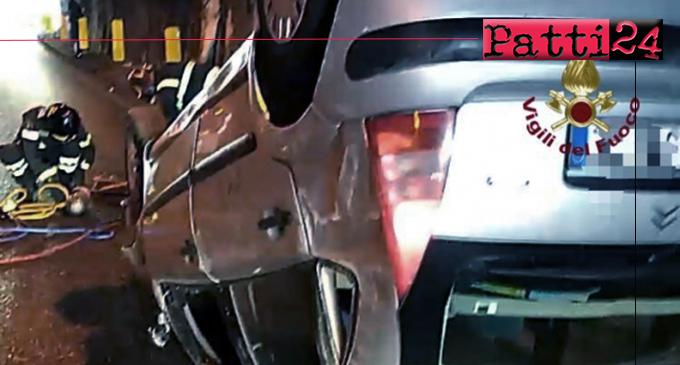 MESSINA – Incidente in galleria. Auto si ribalta e conducende sbalza fuori dell'abitacolo.