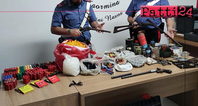 GIARDINI NAXOS – Deteneva illecitamente armi artigianali e munizioni. Arrestato 67enne