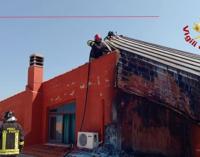 BARCELLONA P.G. – In fiamme pannelli fotovoltaici sul tetto di un'azienda ortofrutticola
