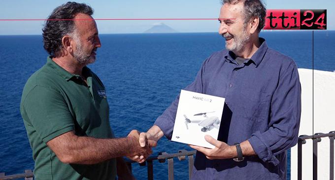 SALINA – Donato drone per attività di monitoraggio  riserva naturale