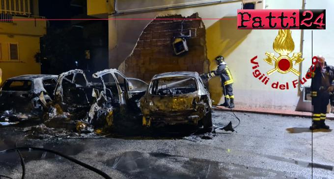 MILAZZO – Nella notte cinque auto in fiamme.  Indagini in corso per risalire all'origine del rogo.