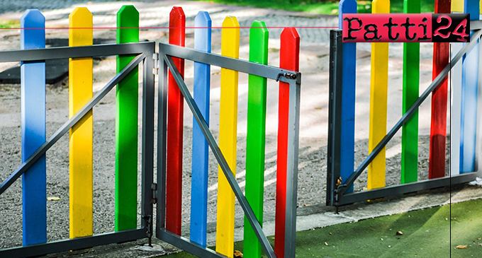 PATTI – Emergenza covid-19. Il sindaco Aquino chiude parchi e tutte le aree gioco della città.