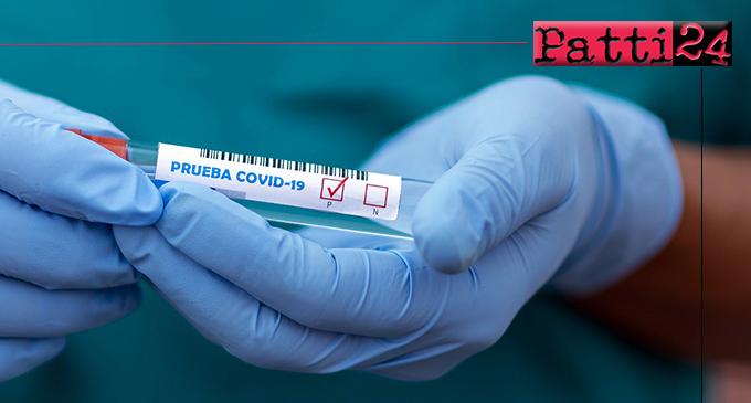 PATTI – Covid-19. Tre nuovi positivi, otto il totale dei contagi.